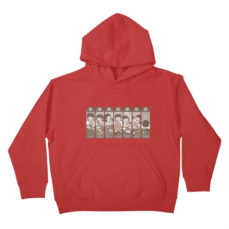 The Seven Daily Meals Kids Pullover Hoody by The Art of Anna-Maria Jung