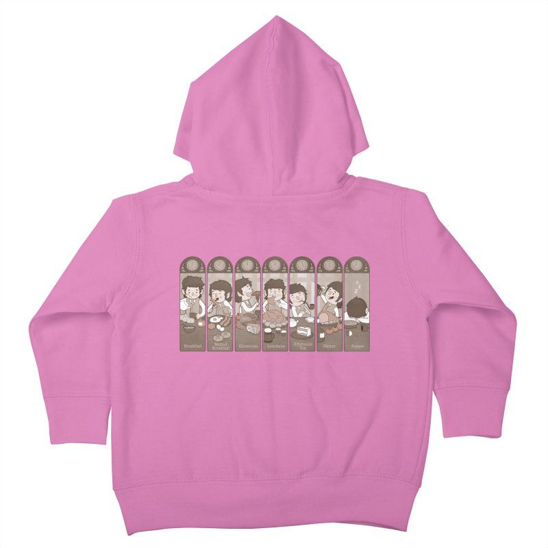 The Seven Daily Meals Kids Toddler Zip-Up Hoody by The Art of Anna-Maria Jung
