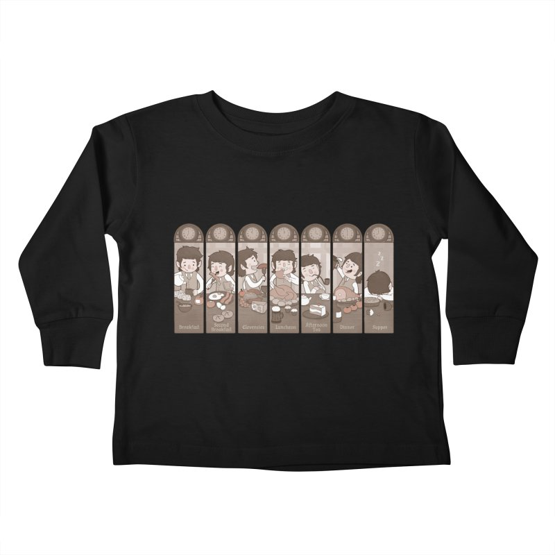 The Seven Daily Meals Kids Toddler Longsleeve T-Shirt by The Art of Anna-Maria Jung