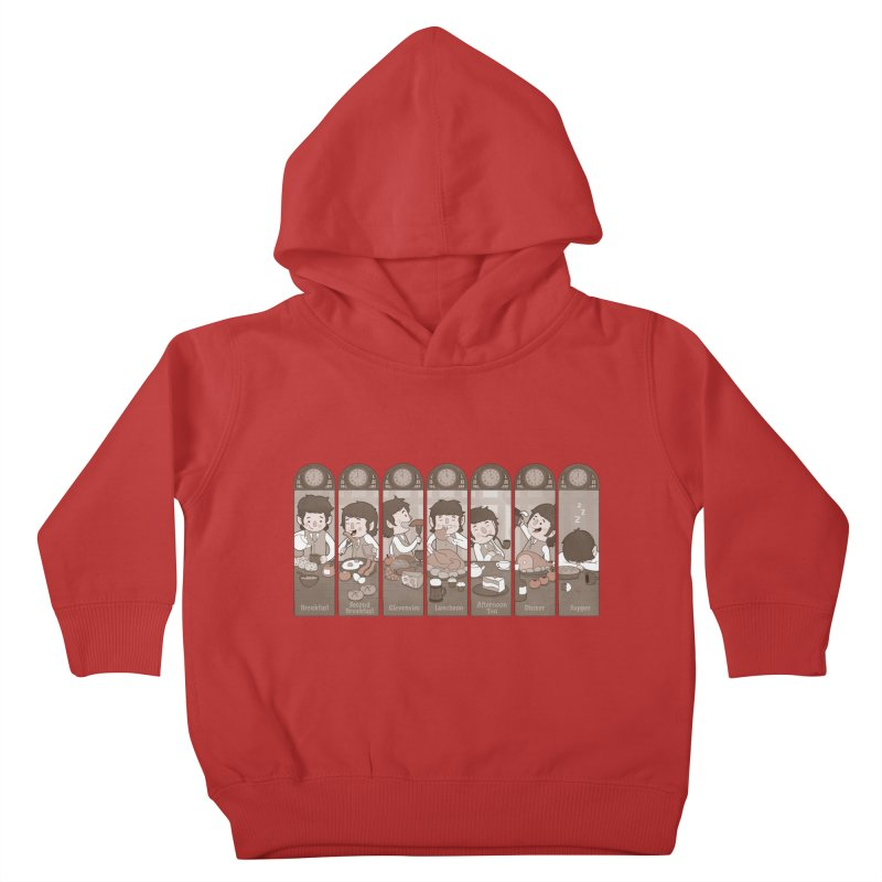 The Seven Daily Meals Kids Toddler Pullover Hoody by The Art of Anna-Maria Jung
