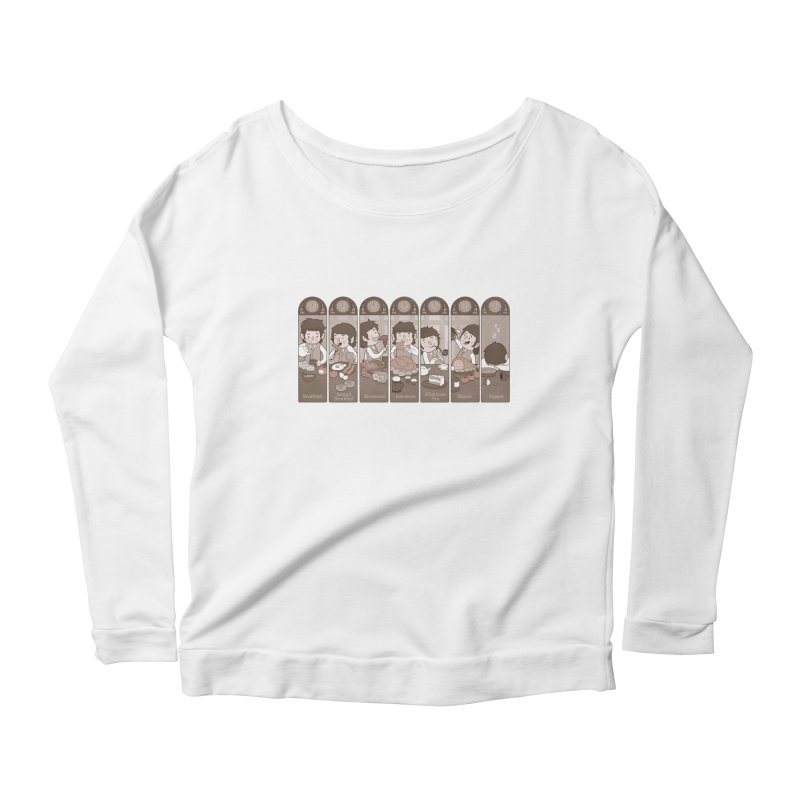 The Seven Daily Meals Women's Longsleeve Scoopneck  by The Art of Anna-Maria Jung