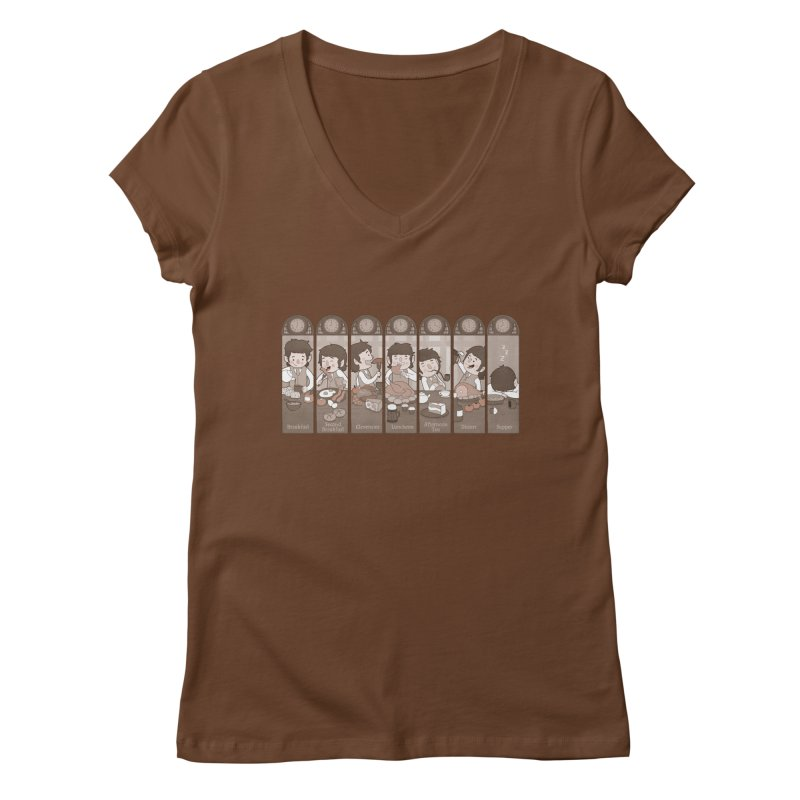 The Seven Daily Meals Women's V-Neck by The Art of Anna-Maria Jung