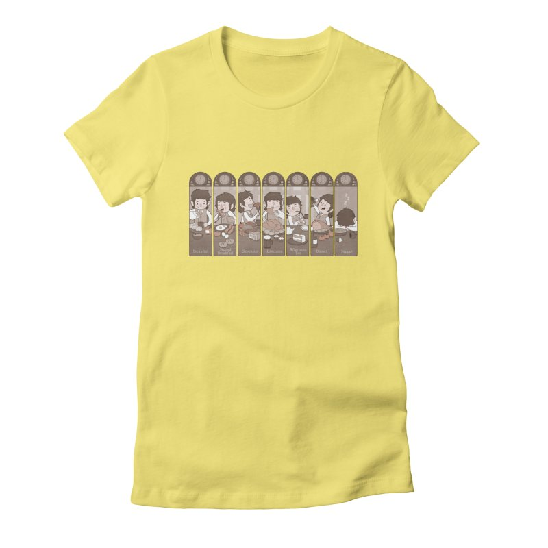 The Seven Daily Meals Women's Fitted T-Shirt by The Art of Anna-Maria Jung