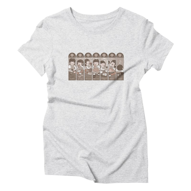 The Seven Daily Meals Women's Triblend T-Shirt by The Art of Anna-Maria Jung
