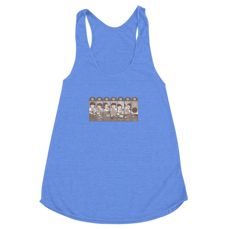 The Seven Daily Meals Women's Racerback Triblend Tank by The Art of Anna-Maria Jung