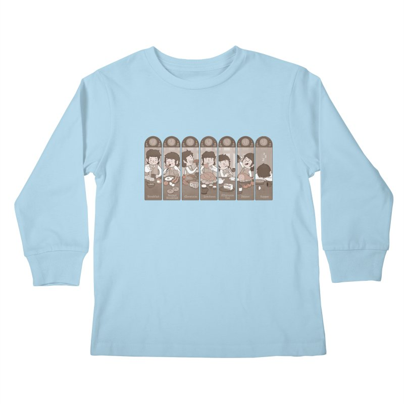 The Seven Daily Meals Kids Longsleeve T-Shirt by The Art of Anna-Maria Jung