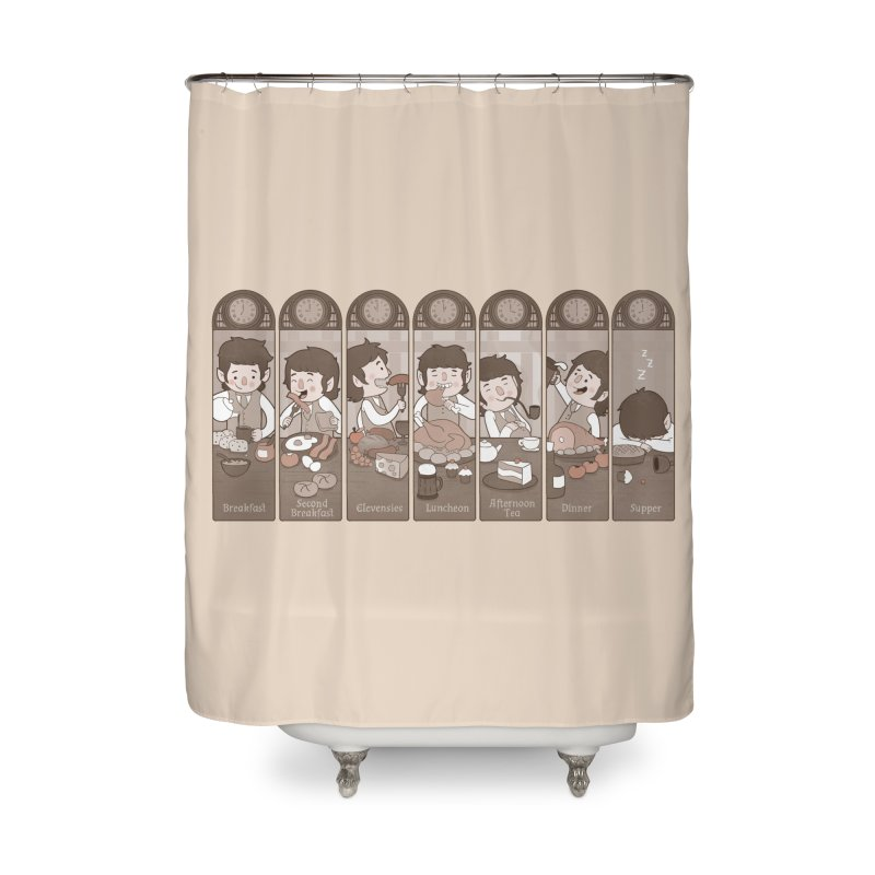The Seven Daily Meals Home Shower Curtain by The Art of Anna-Maria Jung