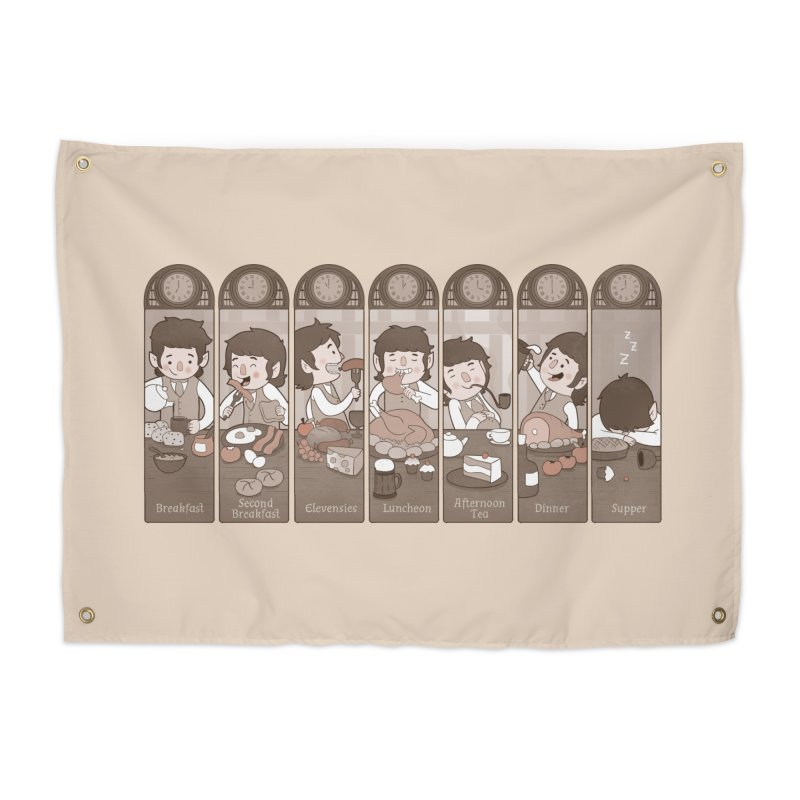 The Seven Daily Meals Home Tapestry by The Art of Anna-Maria Jung