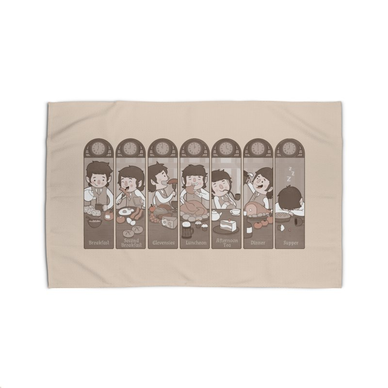 The Seven Daily Meals Home Rug by The Art of Anna-Maria Jung