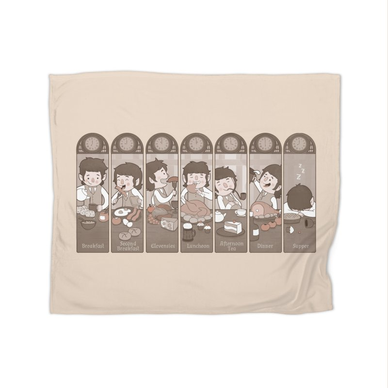 The Seven Daily Meals Home Fleece Blanket by The Art of Anna-Maria Jung