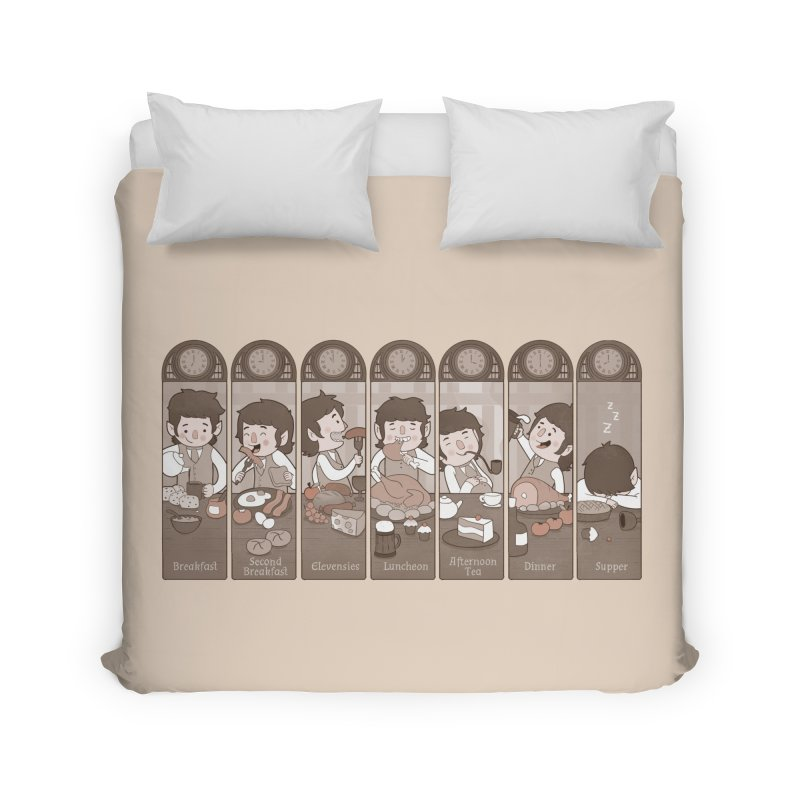 The Seven Daily Meals Home Duvet by The Art of Anna-Maria Jung