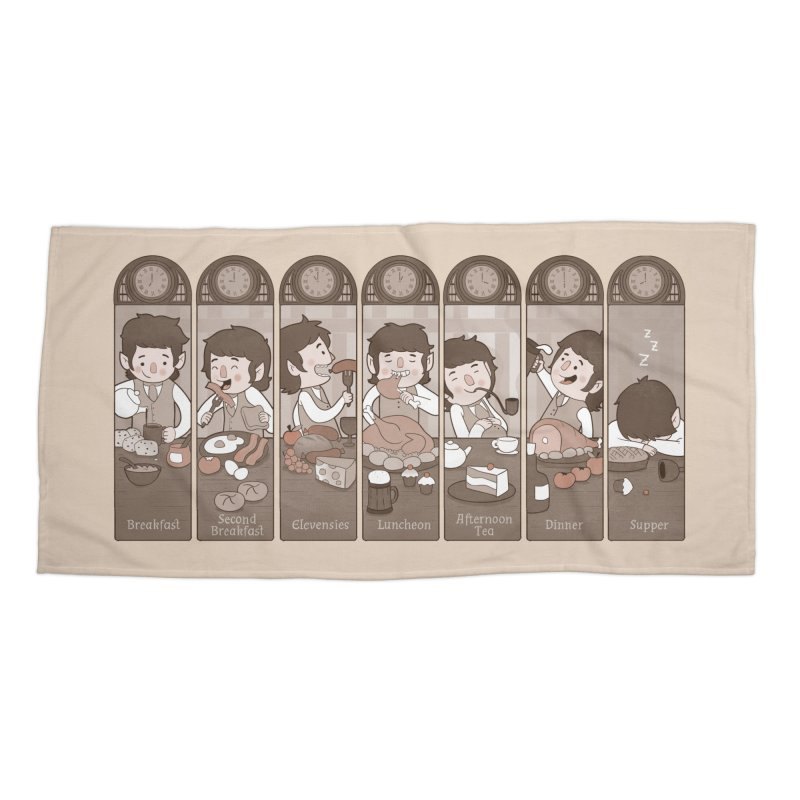 The Seven Daily Meals Accessories Beach Towel by The Art of Anna-Maria Jung