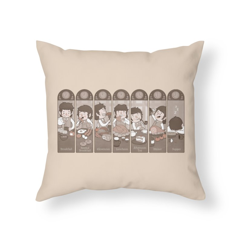 The Seven Daily Meals Home Throw Pillow by The Art of Anna-Maria Jung