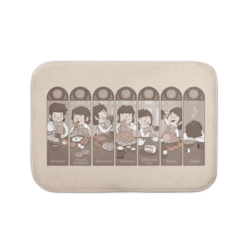 The Seven Daily Meals Home Bath Mat by The Art of Anna-Maria Jung