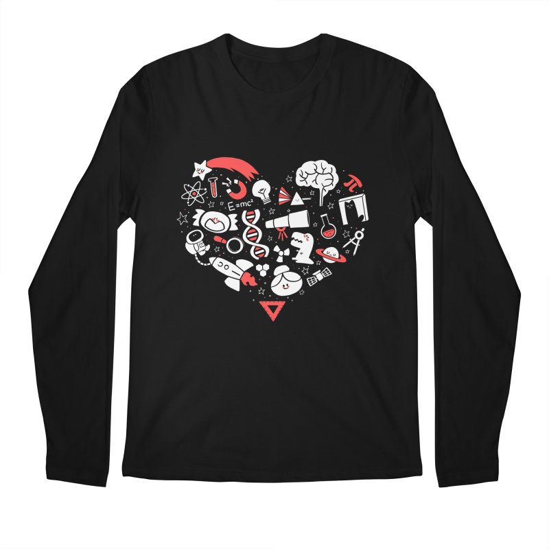I <3 Science Men's Longsleeve T-Shirt by The Art of Anna-Maria Jung