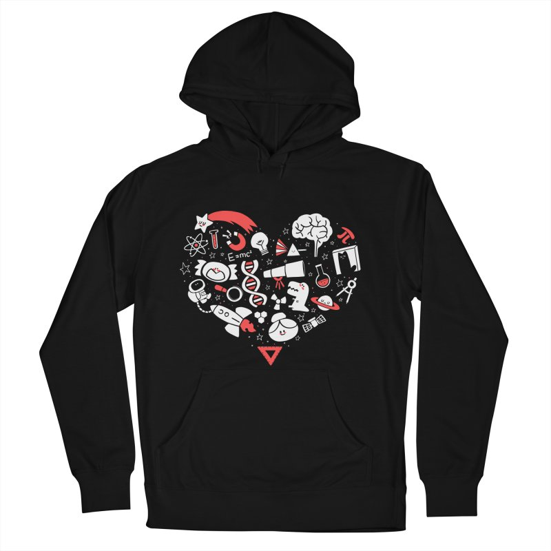 I <3 Science Women's French Terry Pullover Hoody by The Art of Anna-Maria Jung