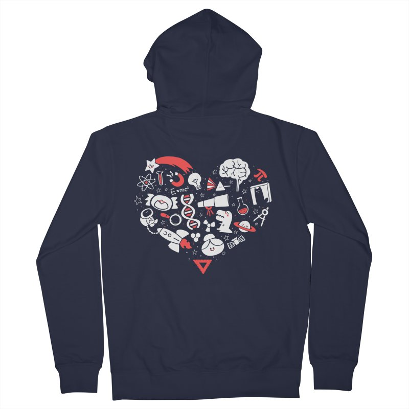 I <3 Science Men's French Terry Zip-Up Hoody by The Art of Anna-Maria Jung