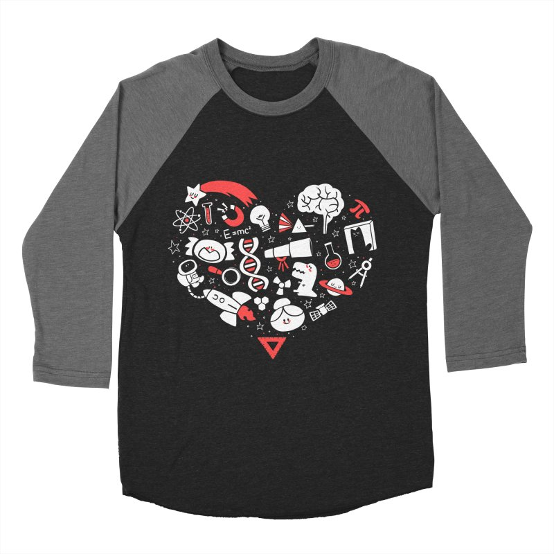 I <3 Science Women's Baseball Triblend Longsleeve T-Shirt by The Art of Anna-Maria Jung