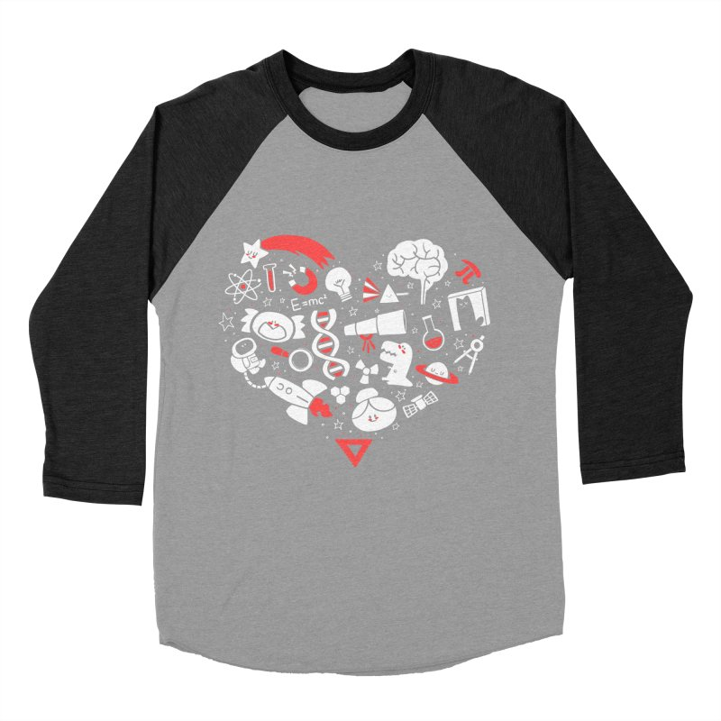 I <3 Science Men's Baseball Triblend T-Shirt by The Art of Anna-Maria Jung