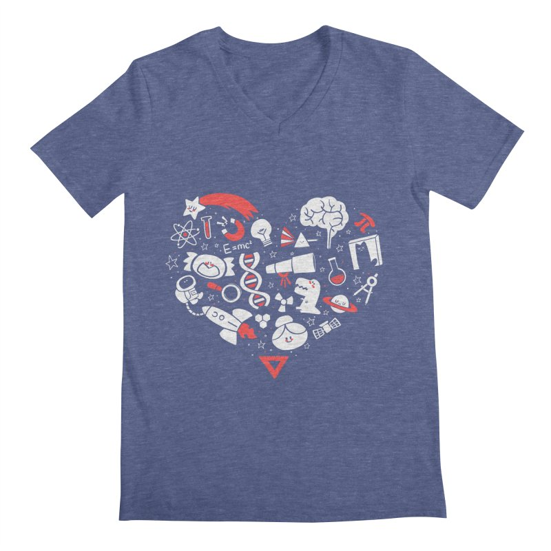 I <3 Science Men's V-Neck by The Art of Anna-Maria Jung