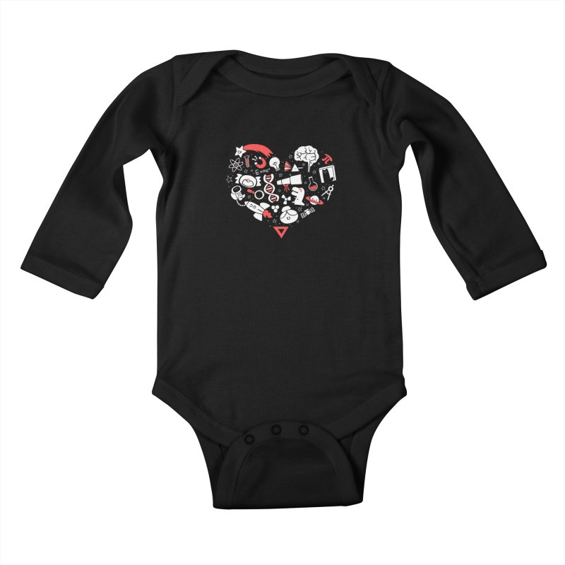I <3 Science Kids Baby Longsleeve Bodysuit by The Art of Anna-Maria Jung