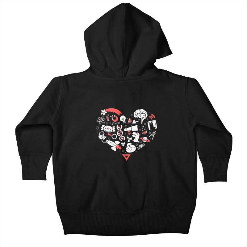 I <3 Science Kids Baby Zip-Up Hoody by The Art of Anna-Maria Jung