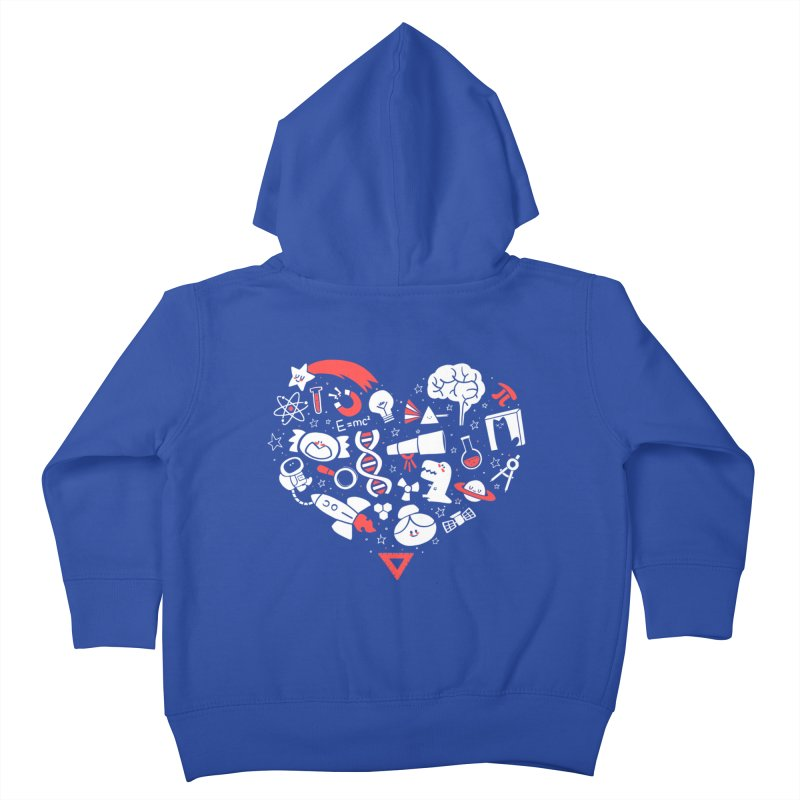 I <3 Science Kids Toddler Zip-Up Hoody by The Art of Anna-Maria Jung