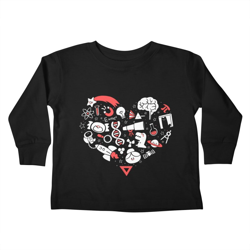 I <3 Science Kids Toddler Longsleeve T-Shirt by The Art of Anna-Maria Jung