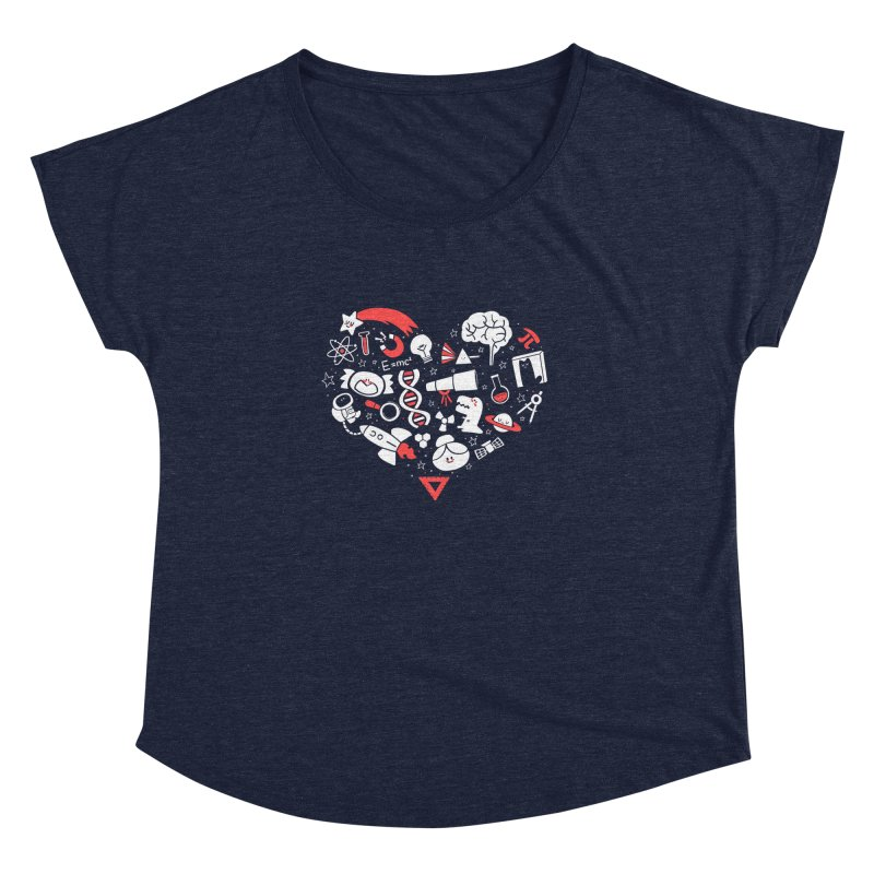 I <3 Science Women's Dolman by The Art of Anna-Maria Jung