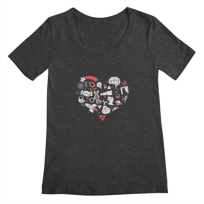I <3 Science Women's Scoopneck by The Art of Anna-Maria Jung