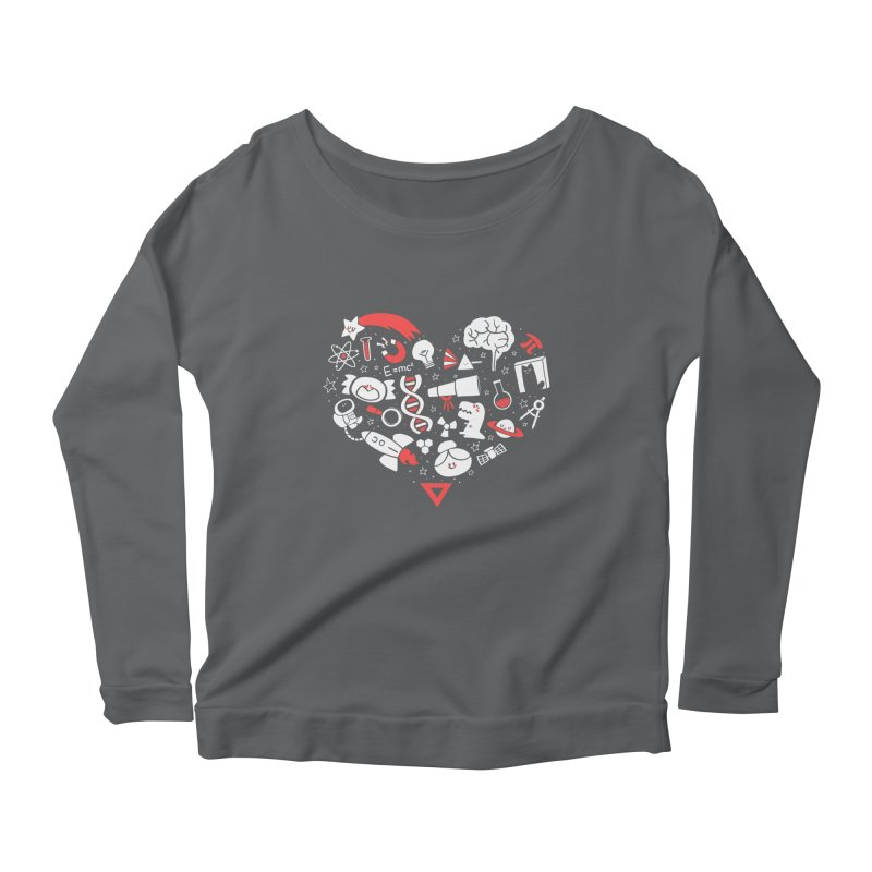 I <3 Science Women's Longsleeve Scoopneck  by The Art of Anna-Maria Jung