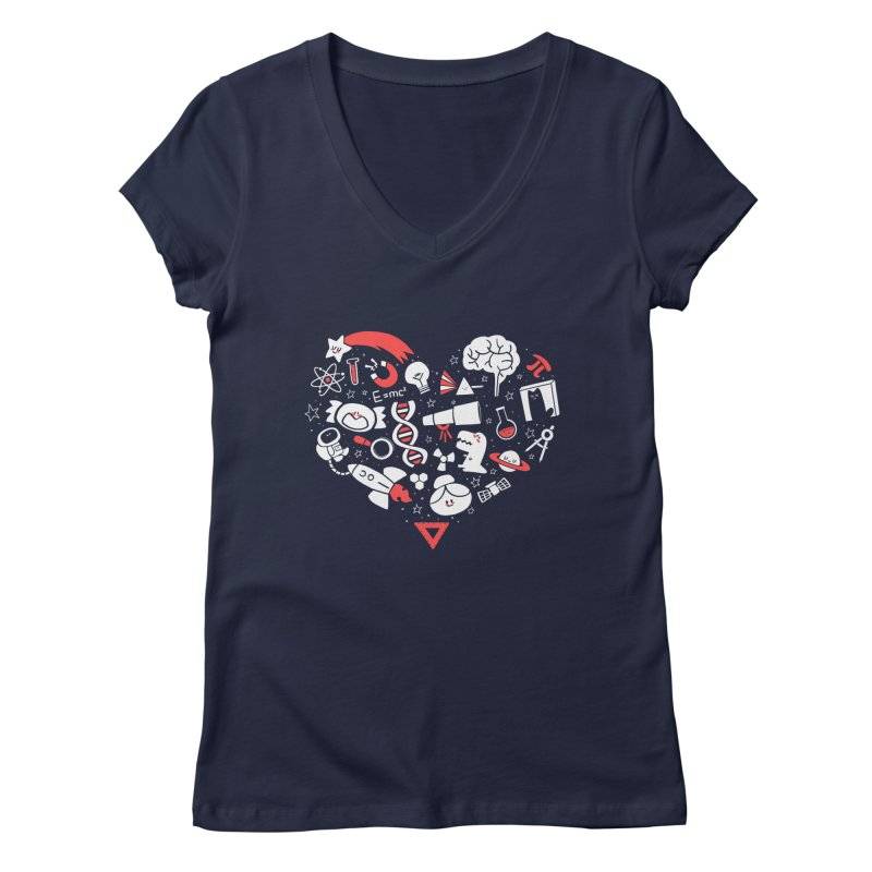 I <3 Science Women's Regular V-Neck by The Art of Anna-Maria Jung