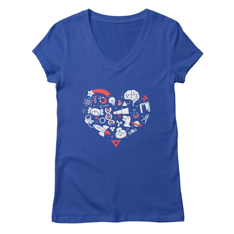 I <3 Science Women's V-Neck by The Art of Anna-Maria Jung