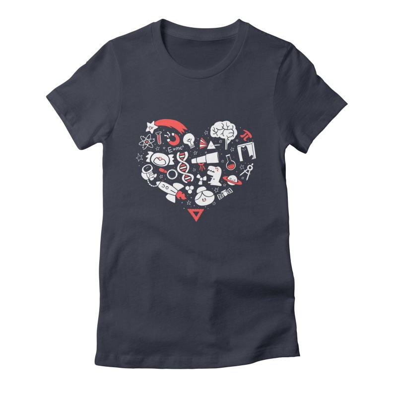 I <3 Science Women's Fitted T-Shirt by The Art of Anna-Maria Jung