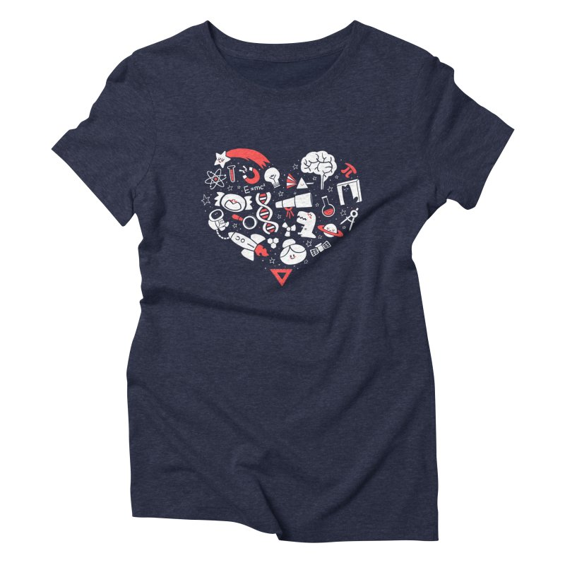 I <3 Science Women's Triblend T-shirt by The Art of Anna-Maria Jung