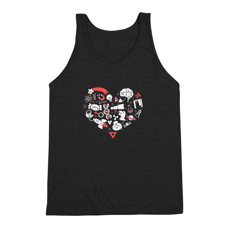 I <3 Science Men's Triblend Tank by The Art of Anna-Maria Jung