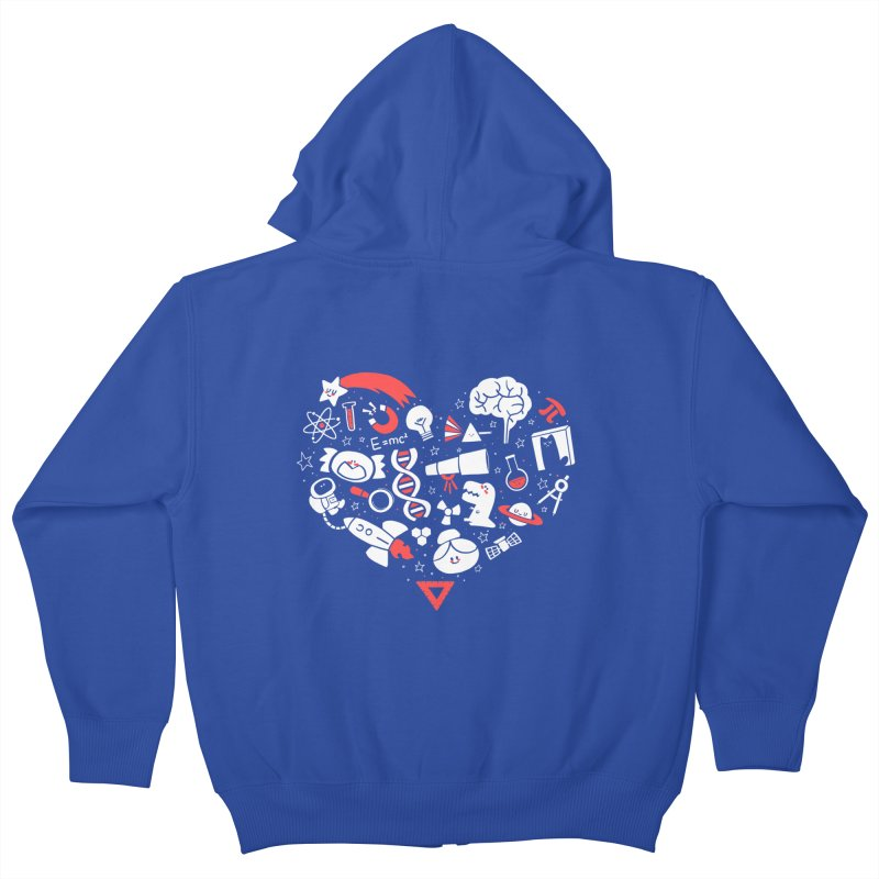 I <3 Science Kids Zip-Up Hoody by The Art of Anna-Maria Jung