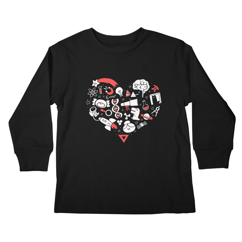 I <3 Science Kids Longsleeve T-Shirt by The Art of Anna-Maria Jung