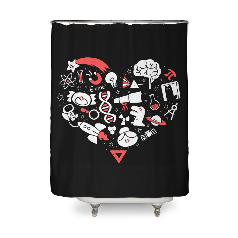 I <3 Science Home Shower Curtain by The Art of Anna-Maria Jung