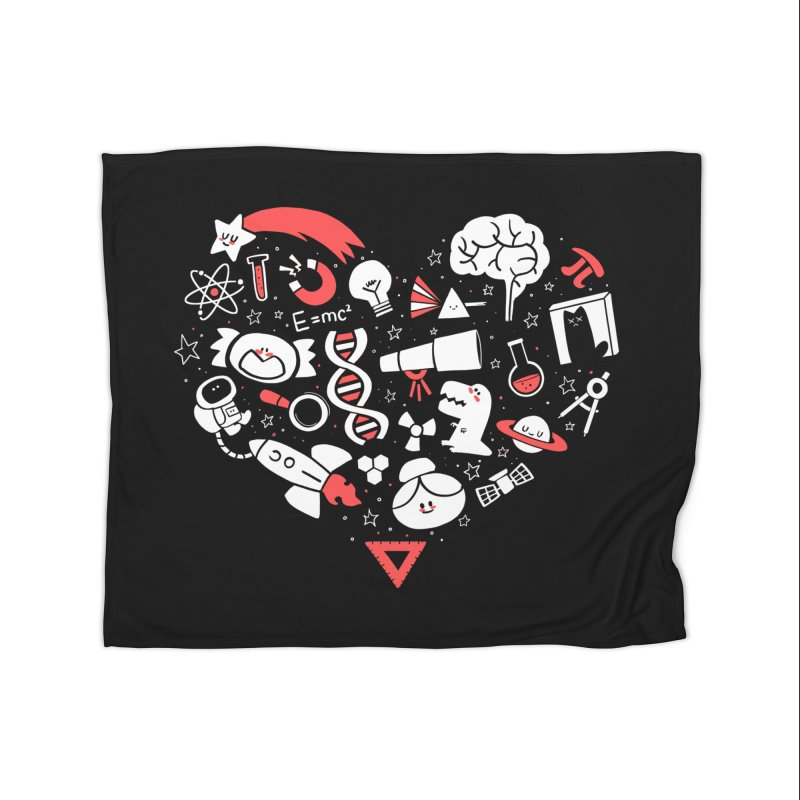 I <3 Science Home Fleece Blanket by The Art of Anna-Maria Jung