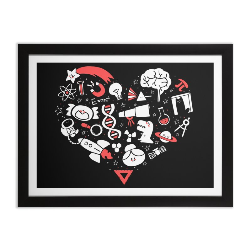 I <3 Science Home Framed Fine Art Print by The Art of Anna-Maria Jung