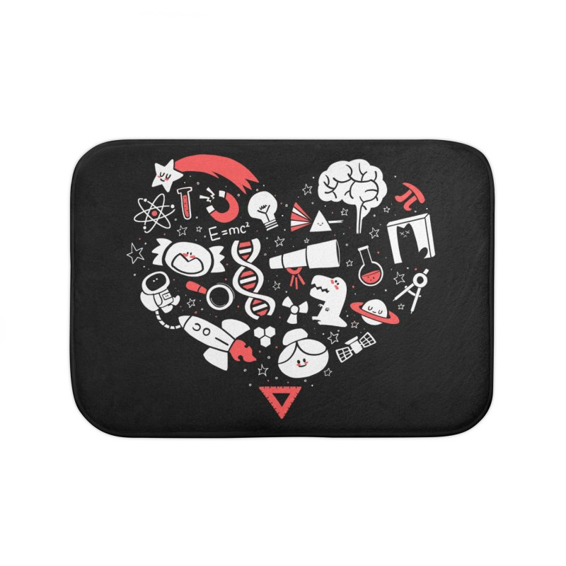 I <3 Science Home Bath Mat by The Art of Anna-Maria Jung