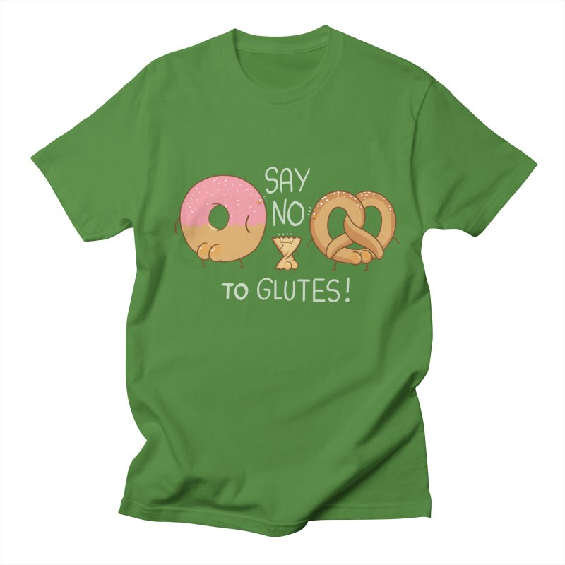 Glutes Intolerant Men's Regular T-Shirt by The Art of Anna-Maria Jung