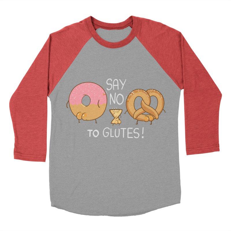 Glutes Intolerant Women's Baseball Triblend Longsleeve T-Shirt by The Art of Anna-Maria Jung