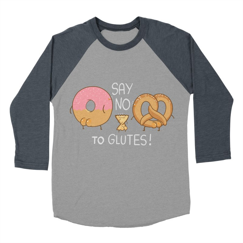 Glutes Intolerant Women's Baseball Triblend T-Shirt by The Art of Anna-Maria Jung