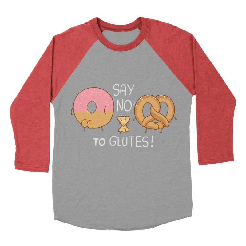 Glutes Intolerant Men's Baseball Triblend T-Shirt by The Art of Anna-Maria Jung