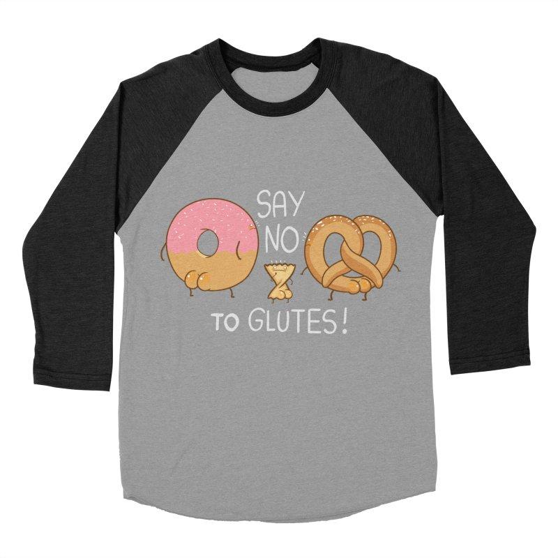 Glutes Intolerant Men's Baseball Triblend Longsleeve T-Shirt by The Art of Anna-Maria Jung