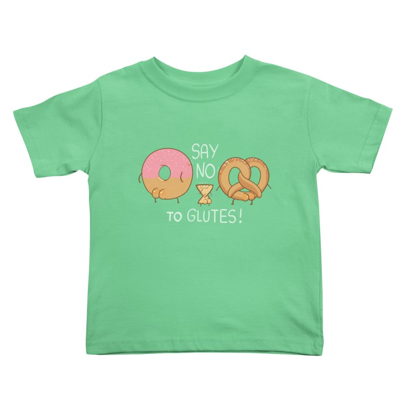 Glutes Intolerant Kids Toddler T-Shirt by The Art of Anna-Maria Jung