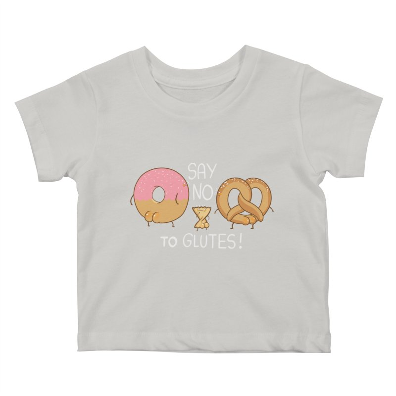 Glutes Intolerant Kids Baby T-Shirt by The Art of Anna-Maria Jung