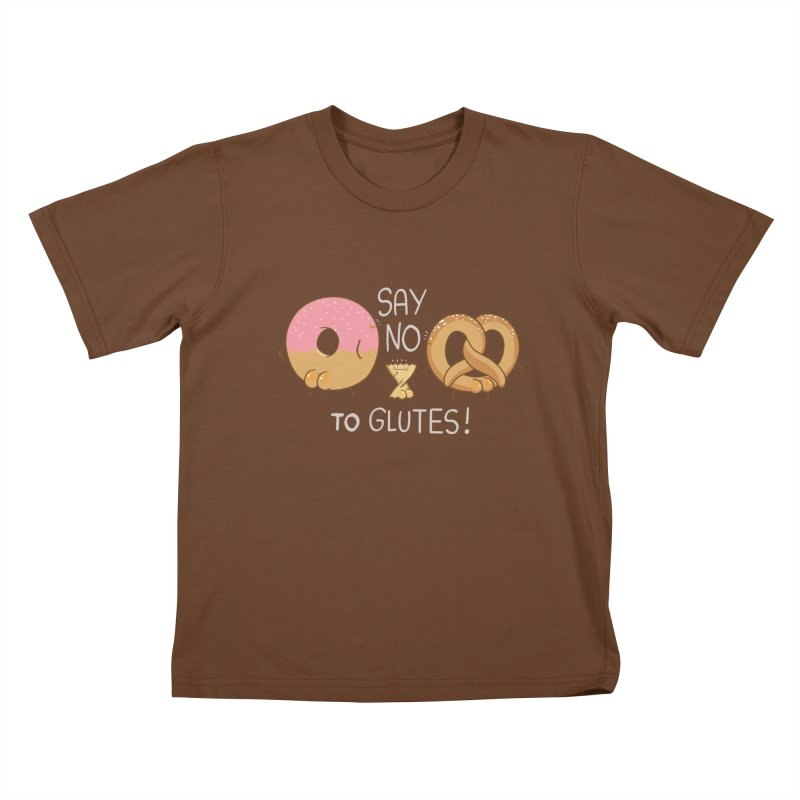 Glutes Intolerant Kids T-Shirt by The Art of Anna-Maria Jung